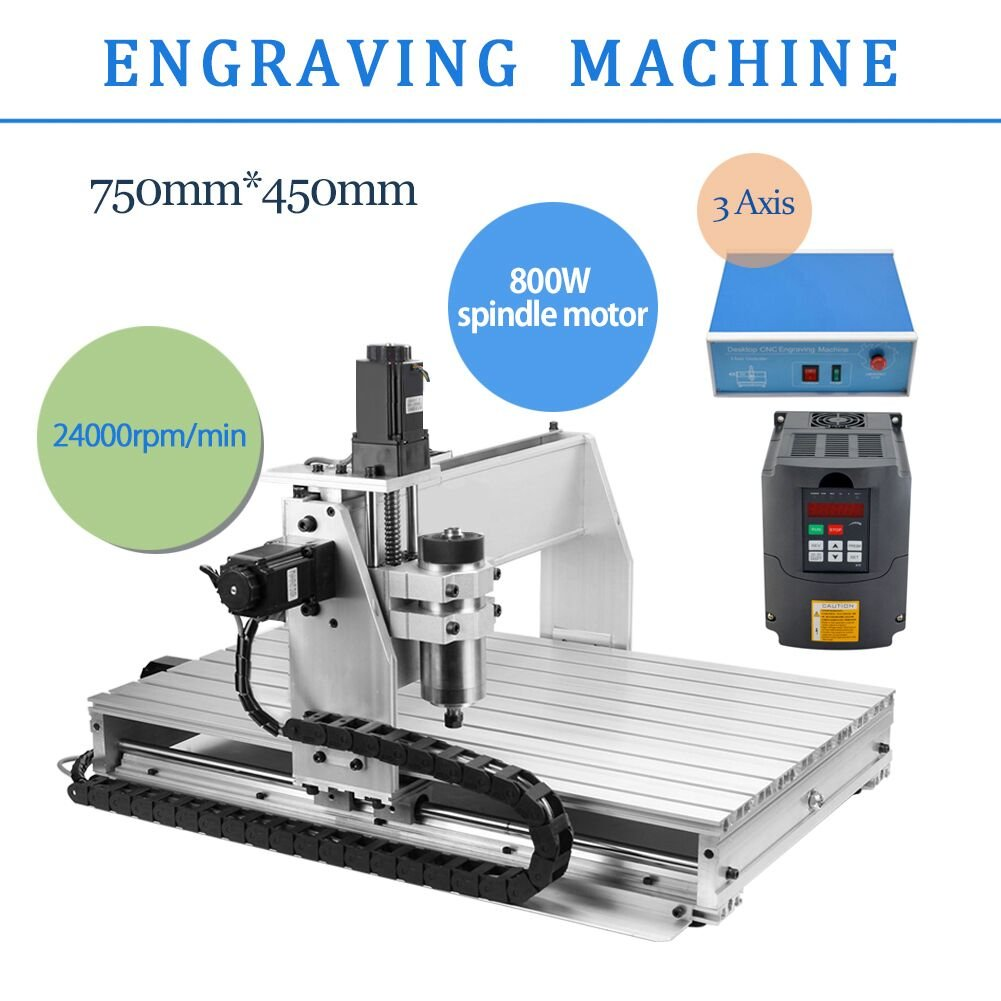 3 AXIS 800W 6040 Desktop CNC Router