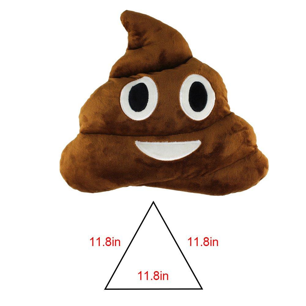 13.8'' Cute Emoji Emoticon Cushion Poo Shape Pillow Stuffed Doll Toy Plush Toy Children Adult Home Decor,Great Birthday Gift Christmas Gift for Boys and Girls by Sealive (Image #6)