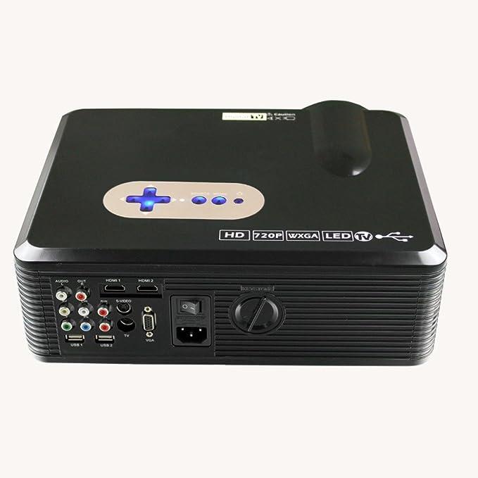 Excelvan - Proyector LCD LED multimedia de 260 pulgadas con ...