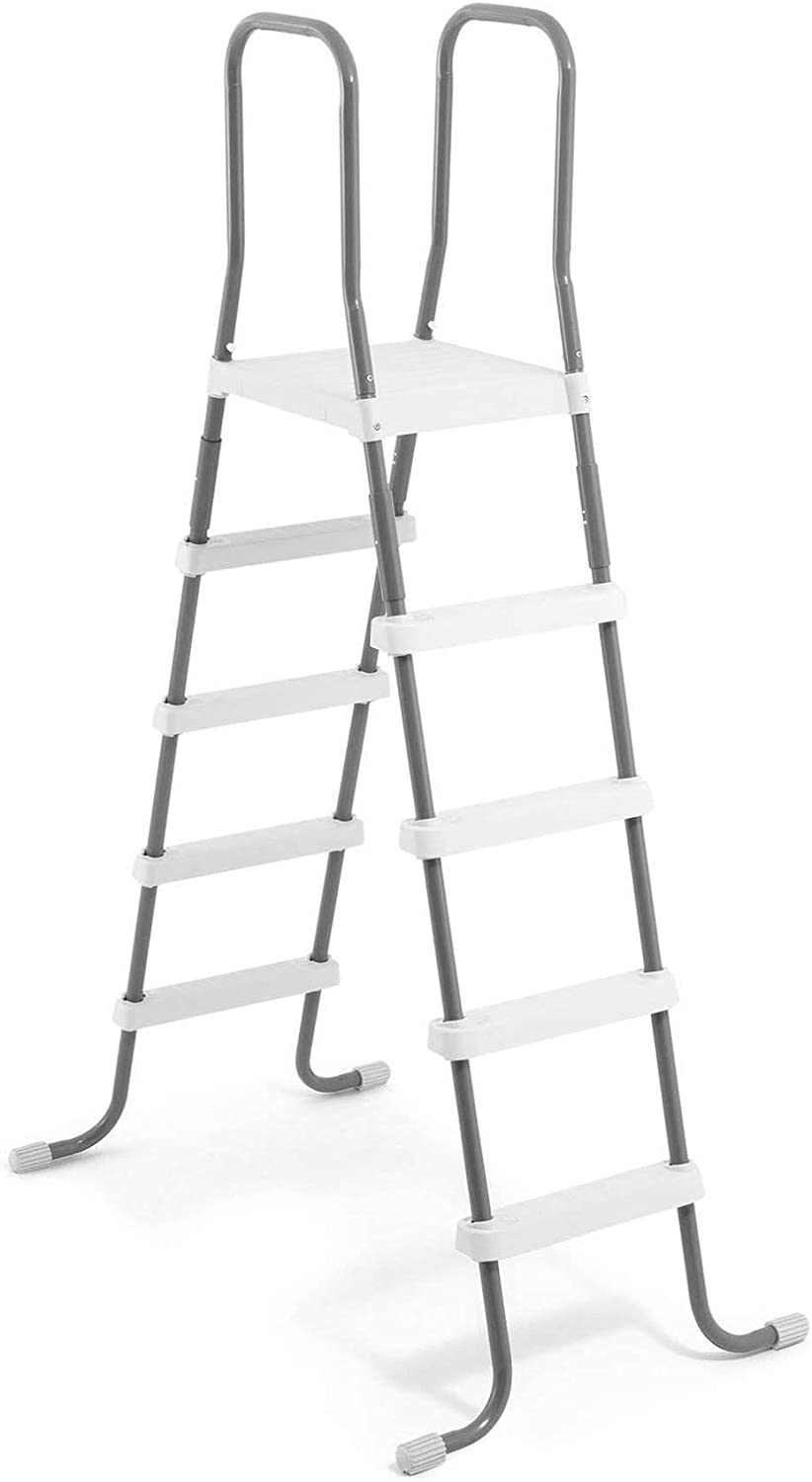 Intex Steel Frame Above Ground Swimming Pool Ladder for 52 Inch Wall Height Pools: Amazon.es: Jardín