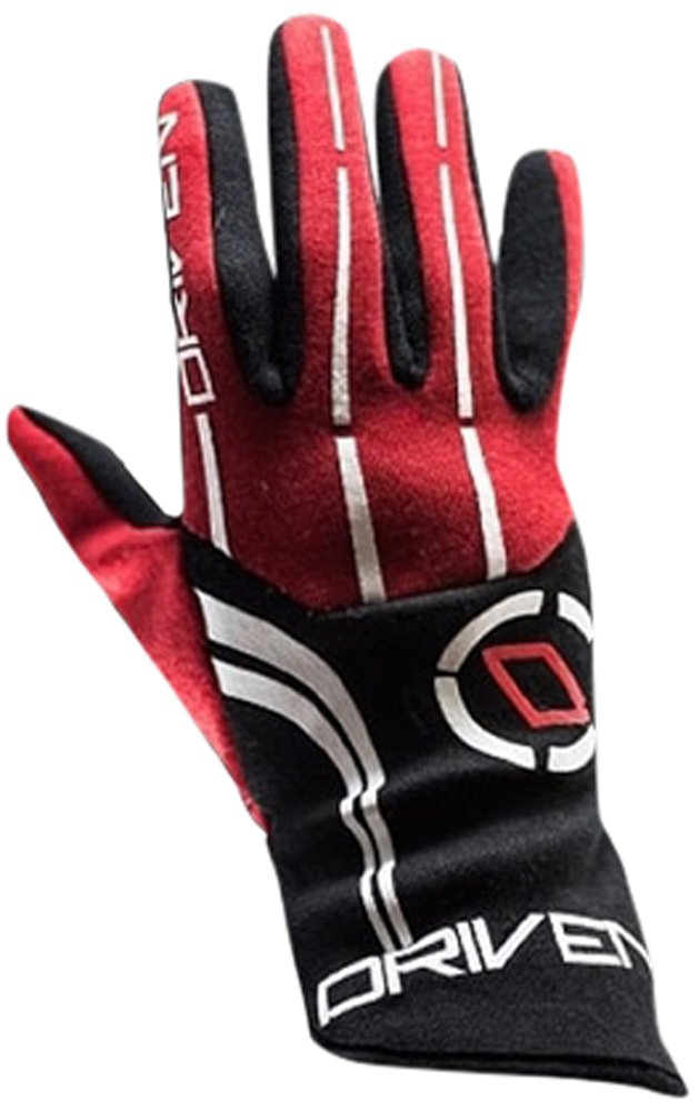 Driven Motorsport Men's Nomex Gloves (Black/Red, X-Large)