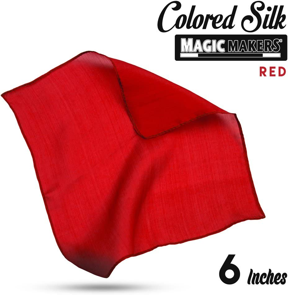 Rouge Foulard 100 /% soie 15 x 15 cm