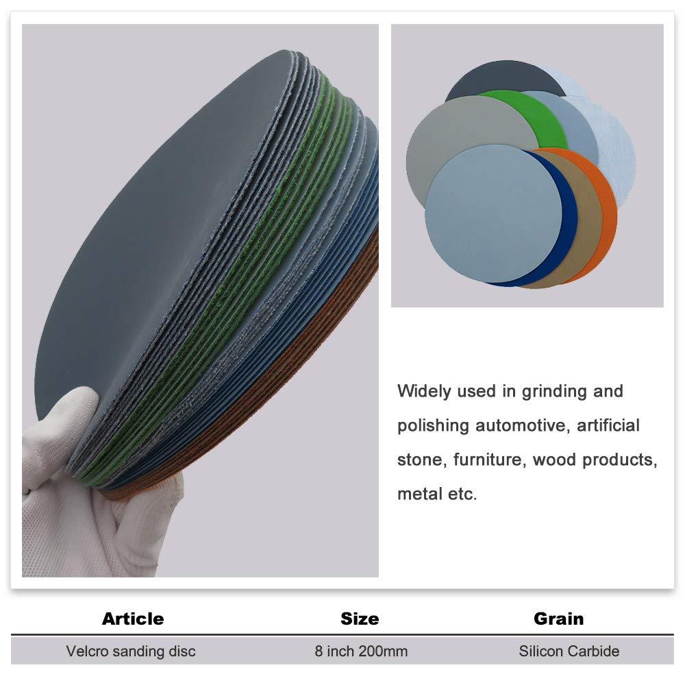 surtido GJCDB Papel de lija 30 piezas de 2 pulgadas de 50 mm de hojas h/úmedas de papel de lija h/úmedo de bucle de carburo de silicio de 60 a 10000 granos para pulir