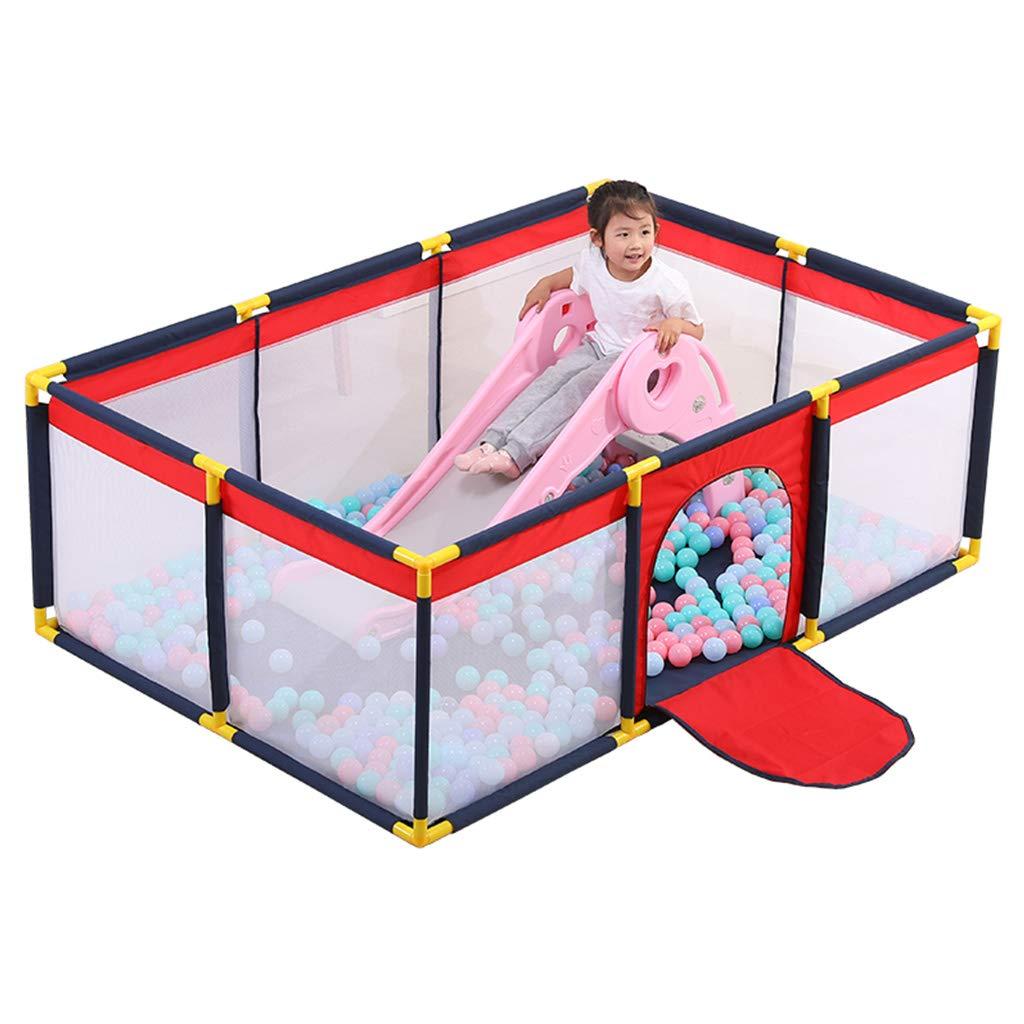ポータブル - ベビーベビーサークル - 子供用安全玩具クロールマット - 遊び場 - 特大 - 通気性オックスフォード布 - 0-6歳の子供用 - 屋内と屋外   B07SJDXYC4