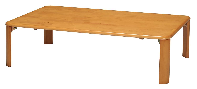 永井興産 木製折れ脚テーブル120 ライトブラウン 天然木 幅120cm×奥行75cm B00PNSFCI4  W120×D75×H32cm