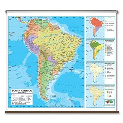 Amazon.com : Advanced Political Map - South America : Wall Maps ...