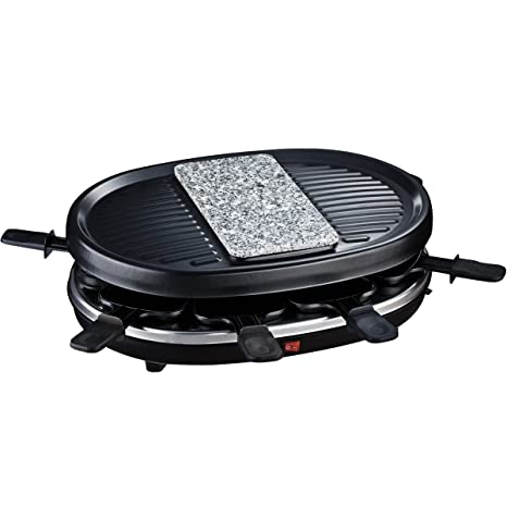 H.Koenig RP 80 RP80-Raclette-grill Natural para 8 Personas, 900