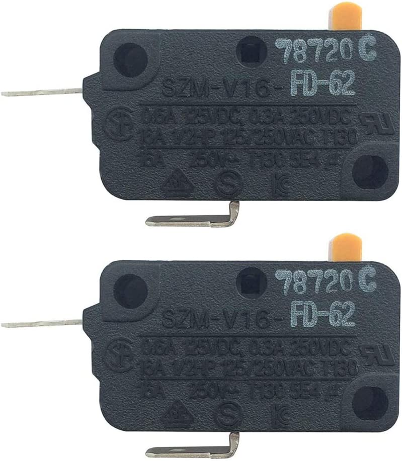 Microwave Door Switch SZM-V16-FD-62 Microwave Oven Switch for LG GE Normally for LG,GE,Starion GE Microwave WB24X0800 (2 Pack)