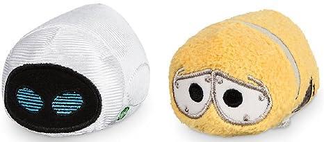 "Disney Store Pixar Mini Tsum Tsum Wall-E Set of 2 Stuffed 3.5"" Plush"