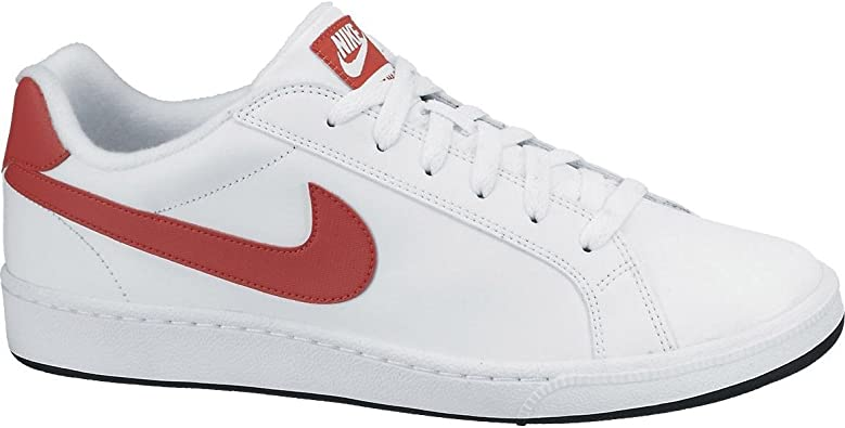 nike court royale bianche e rosse uomo