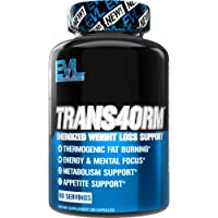 Evlution Nutrition Trans4orm - Complete Thermogenic Fat Burner for Weight Loss, Clean Energy and Focus with No Crash…