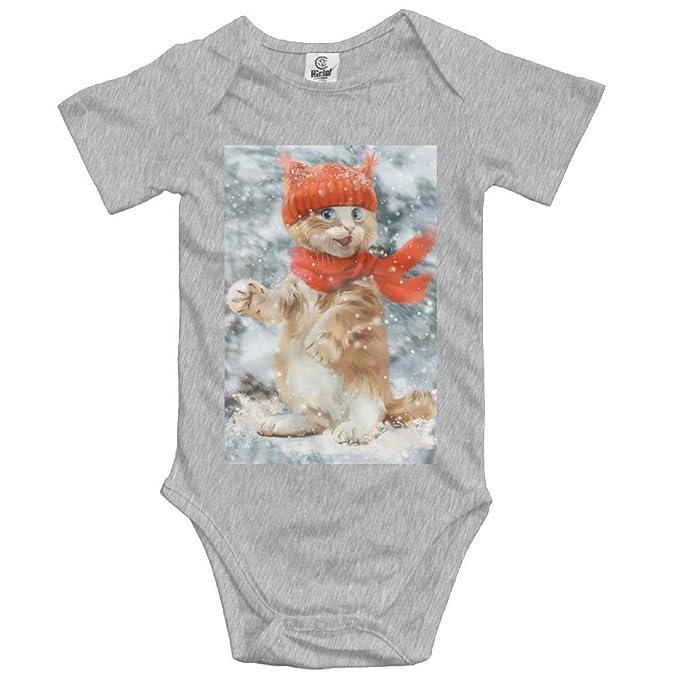 29194610d Amazon.com  Teesofun Lovely Cat in Winter Snow Comfort Baby Infant ...