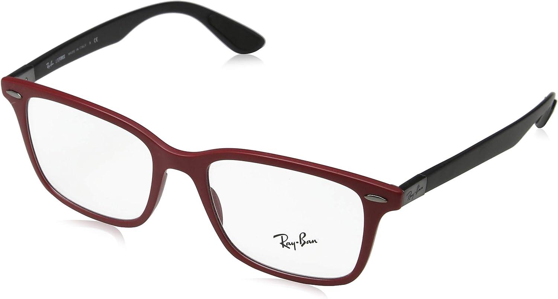 Ray-Ban 0rx 7144 5772 53 Monturas de gafas, Sand Red, Hombre: Amazon.es: Ropa y accesorios