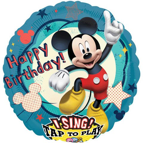 Mayflower Distributing Disney Mickey Mouse Clubhouse Singing Foil Balloon (Singing Birthday Balloons)