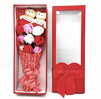 Amazon Com Mother S Day Gift Artificial Handmade Rose Bouquet Soap