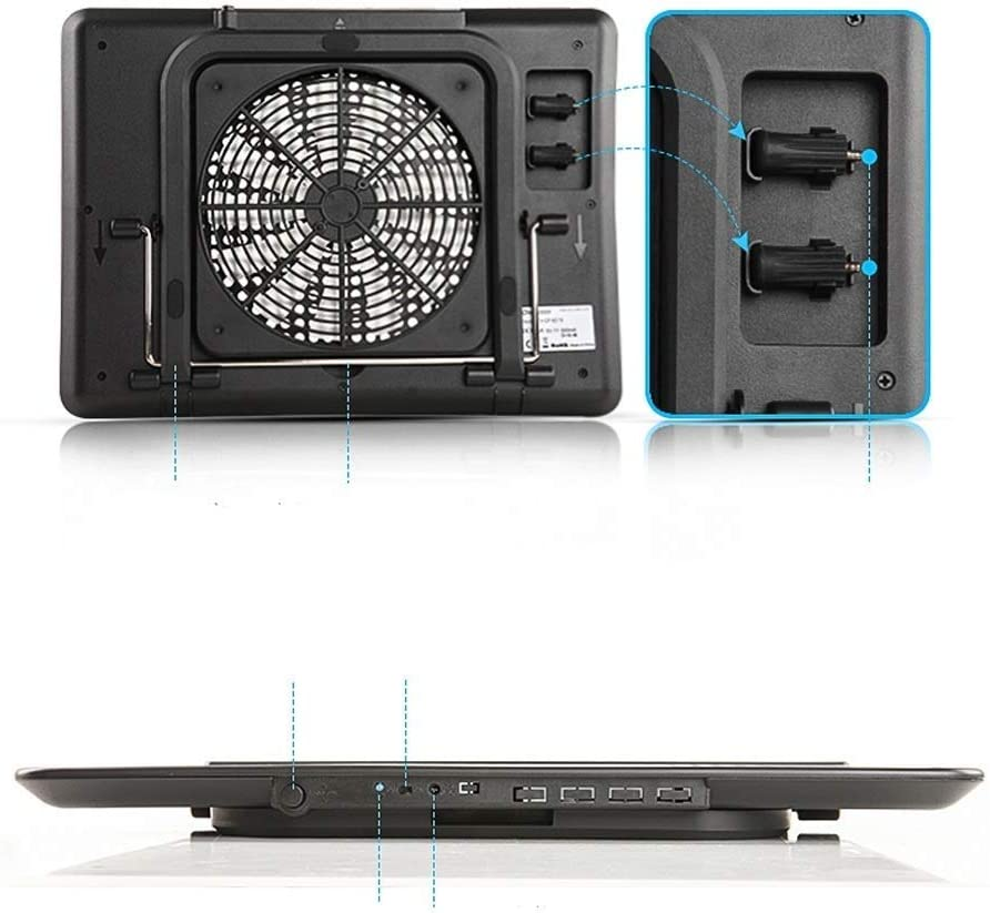Fits Easily on Your Lap or Any Flat Surface Keeps Your Laptop Cool SCDFDJ Laptop Cooling Pad Color : B Strong /& Durable ABS /& Metal Mesh