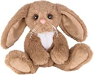 Berington Lil Benny Small Brown Plush Easter Bunny Rabbit Stuffed Animal, 6 inches