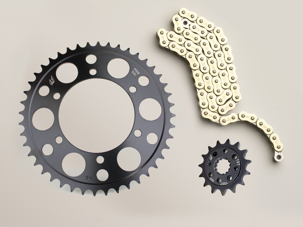 Driven Racing Gold RK 520MAXX Chain and EVO Sprocket Set for Yamaha YZF R1 2006-2008