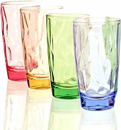 Vasos para beber 4 PACK- 16OZRestaurante de colores acrílicos Party Cups Bar Cerveza Jugo Irrompible Único que acampa Cumpleaños Kid Vaso para té, café, whisky y leche: Amazon.es: Hogar