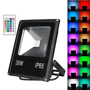 DOOK 30W Proyector led RGB en 16 Opciones, 4 Tipos de Modos, Foco ...