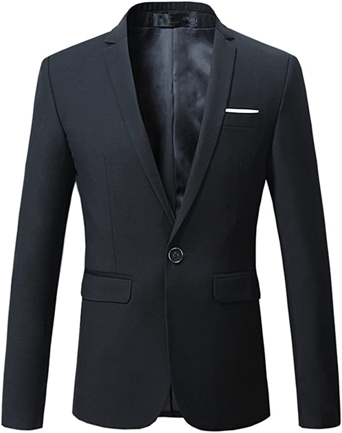 Mogu Men's Blazer Slim Fit Sport Coats
