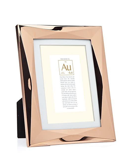 modern looking rose gold picture frame