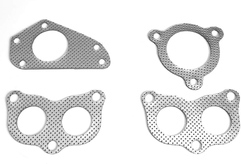 DNA Motoring GKTSET-SWRX02-2P Aluminum Exhaust Manifold Header Gasket Set Replacement