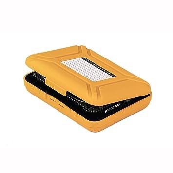 Plastica 2x 2.5 pollici disco rigido HDD CONTENITORE conservazione protezione caso