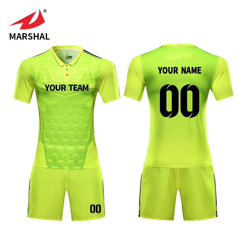 1db9bb9e6 ZHOUKA england football shirt men custom size S-5XL soccer jerseys green  with Polo collar  Amazon.co.uk  Sports   Outdoors