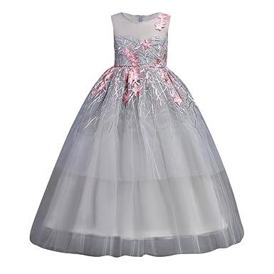 Qlan Mädchen Sleeveless Prinzessin Dress, Qlan Spitze Tulle ...