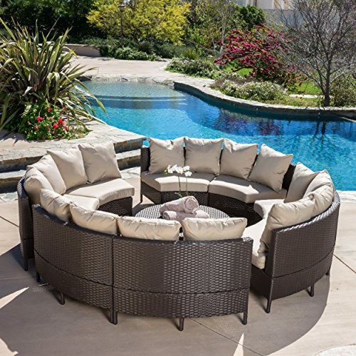- Venice Outdoor 10pcs Wicker Sofa Sectional Set
