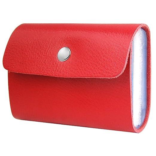 83 opinioni per SODIAL(R) Custodia a protafoglio porta carte in ecopelle morbida rossa da donna