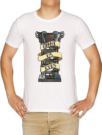 Mensis Jaula Sigil Camiseta Hombre Blanco: Amazon.es: Ropa y ...