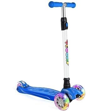 Amazon.com: BELEEV Kick Scooter para niños 3 ruedas, scooter ...