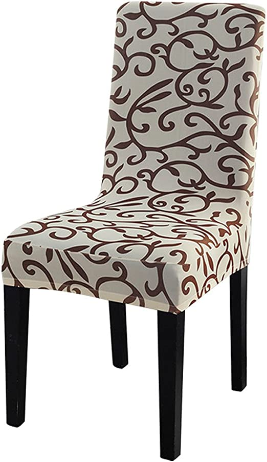 uxcell Dining Chair Covers, Stretch Bar Stool Slipcover Kitchen Chair  Protector Spandex Pattern Chair Seat Cover for Home Decorative/Dining ...