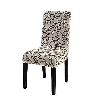 Abnehmbarer Dehnbar Gummiband Schutzhüllen Kurze Esszimmer Stuhl Sitzbezüge