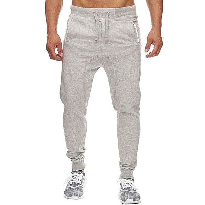 mejor mayorista estilo clásico llegando Pantalones Hombre, LMMVPHombres elástico puños casuales cordón ...