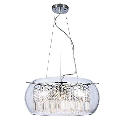 home decorators collection baxendale 5 light crystal and chrome