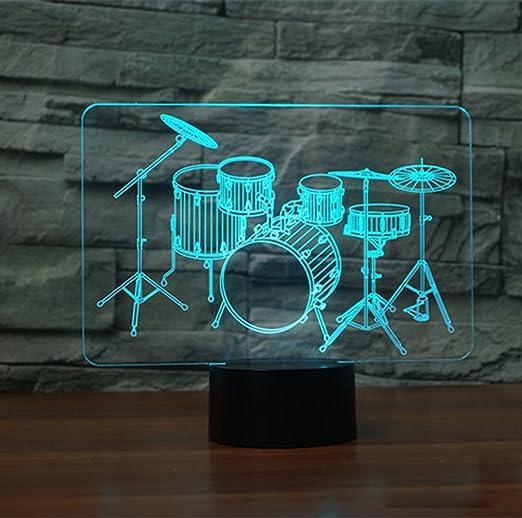 Lámparas LED de luz nocturna 3D, HONGANG 3D Ilusión óptica 7 ...