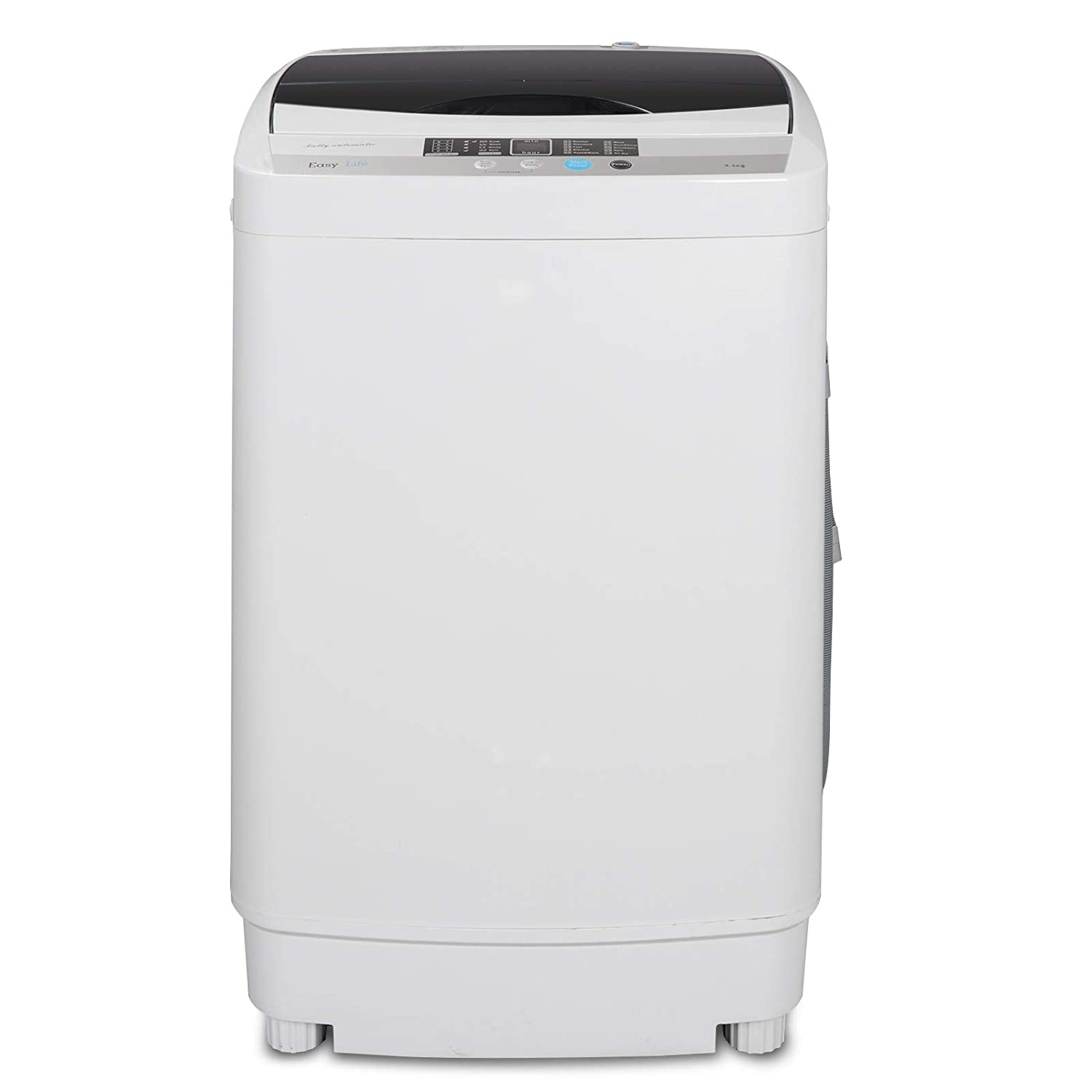 ZENY Portable Compact Full-Automatic Washing Machine Holds 10lbs Load Mini Laundry Washer Machine for Home (Automatic 8 lbs)