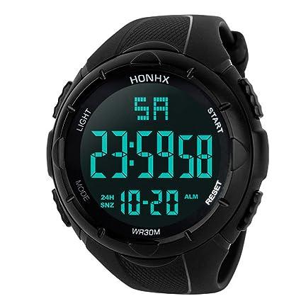 Saihui_Watch Reloj Deportivo analógico Digital Multifuncional para Hombre, Digital, Digital, Resistente al Agua