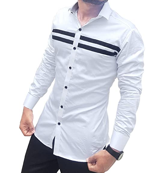8924478015d S.N. Men s Cotton Casual Long Sleeves Slim Fit Shirt  Amazon.in ...