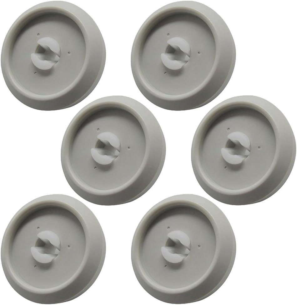 6 unidades Lavavajillas Miele rueda para cesta inferior y eje
