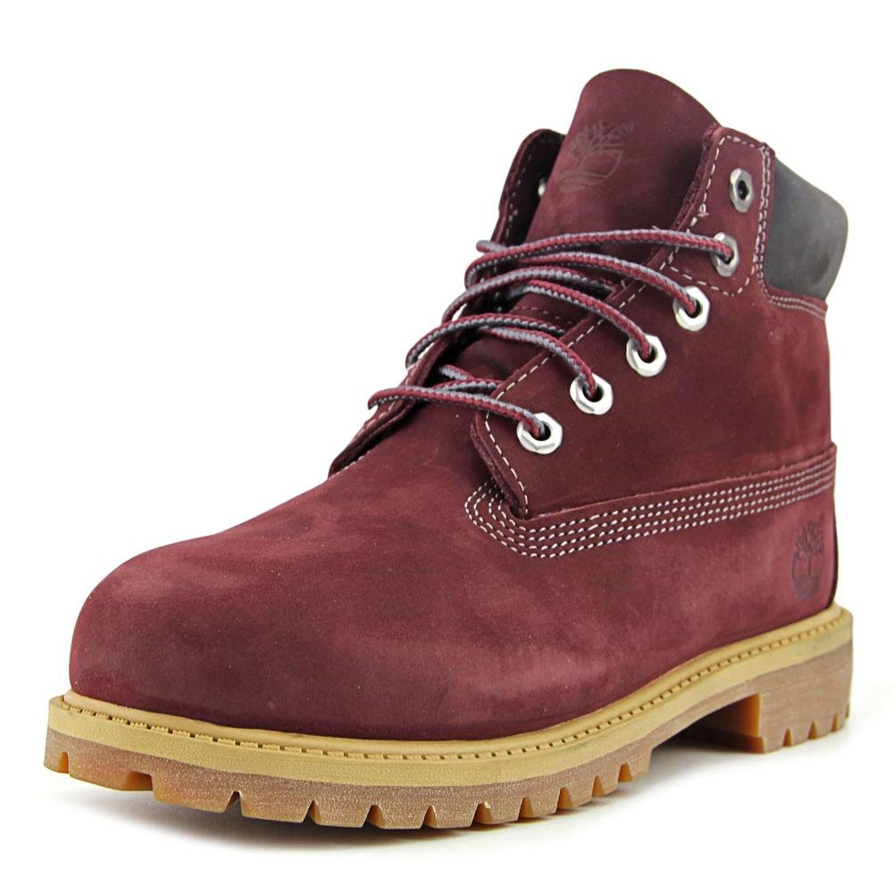 Timberland 6'' Premium Youth US 3 Burgundy Boot by Timberland