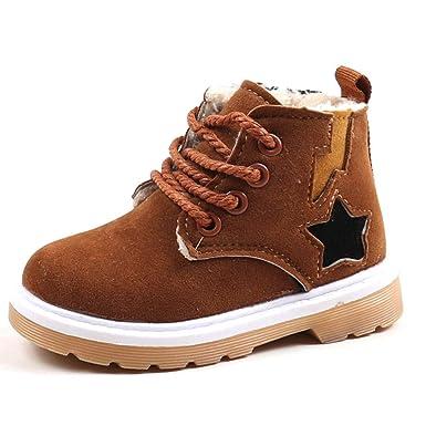 ❤ Botas de Terciopelo para bebé, bebé niños Warm Boys Girls Sneaker Botas niños bebé Zapatos de Nieve Ocasionales Absolute: Amazon.es: Ropa y accesorios