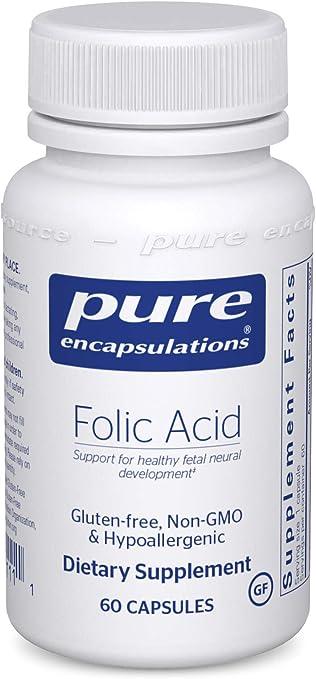 Pure Encapsulations Folic Acid Supplement
