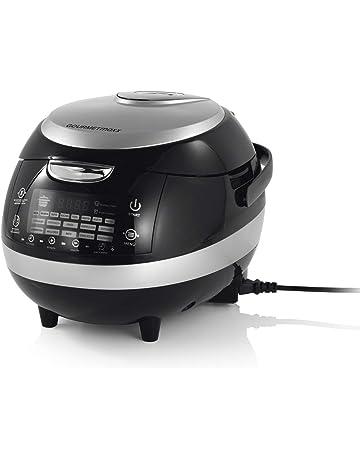Gourmet Maxx - Robot de cocina con pantalla táctil, 18 en 1, 860 W, color plateado y negro: Amazon.es: Hogar
