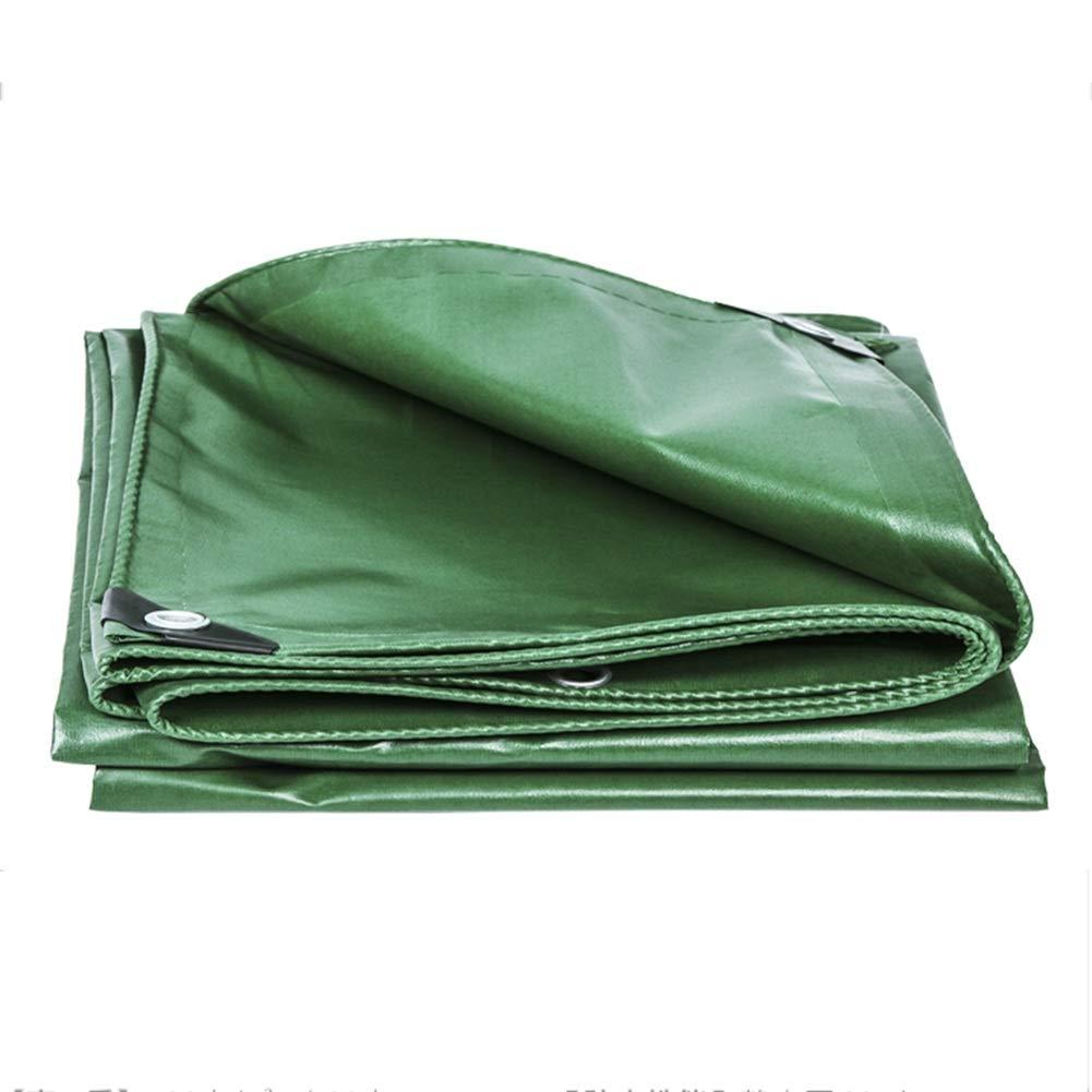 CHAOXIANG ターポリン サンシェード 日焼け止め 防雨布 耐摩耗性 シェード 軽量 PVC 厚さ0.33mm、 18サイズ、 カスタマイズ可能な (色 : Green, サイズ さいず : 4.8mx4.8m) 4.8mx4.8m Green B07HCL74W5