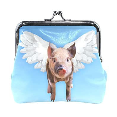 Amazon.com: Funny Flying Pig - Monedero pequeño para mujer y ...