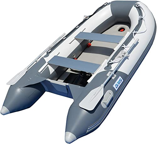 BRIS 9.8 ft Inflatable Boat Inflatable Dinghy Yacht Tender Raft with Air-Deck Floor